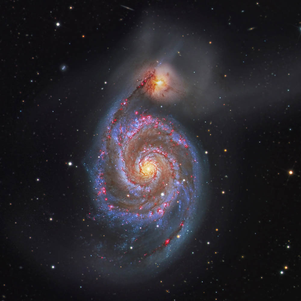 M51WhirlpoolGalaxy, Photo Credit Bill snyder