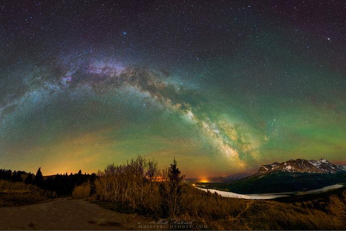 Matt Dieterich Glacier Park Milky Way